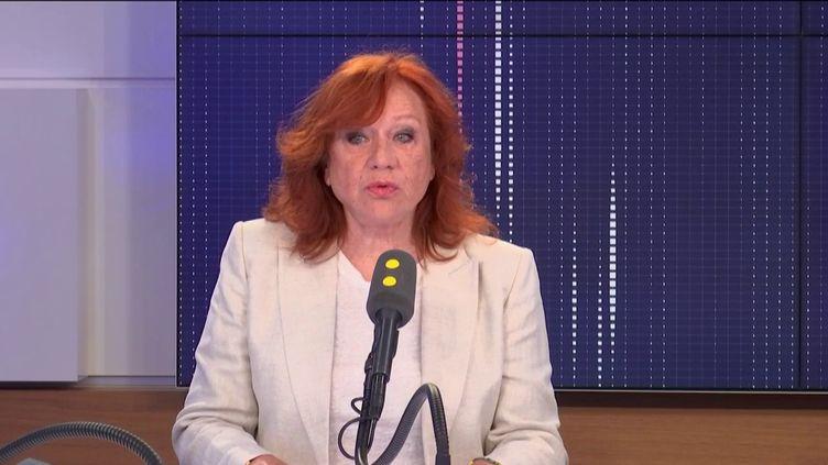 La comédienne Eva Darlan, invitée de franceinfo mardi 3 septembre 2019. (FRANCEINFO / RADIOFRANCE)