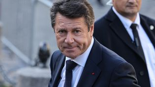 Le mairede Nice, Christian Estrosi, à l'église Saint-Germain-des-Pres à Paris, le 6 octobre 2021. (THOMAS COEX / AFP)