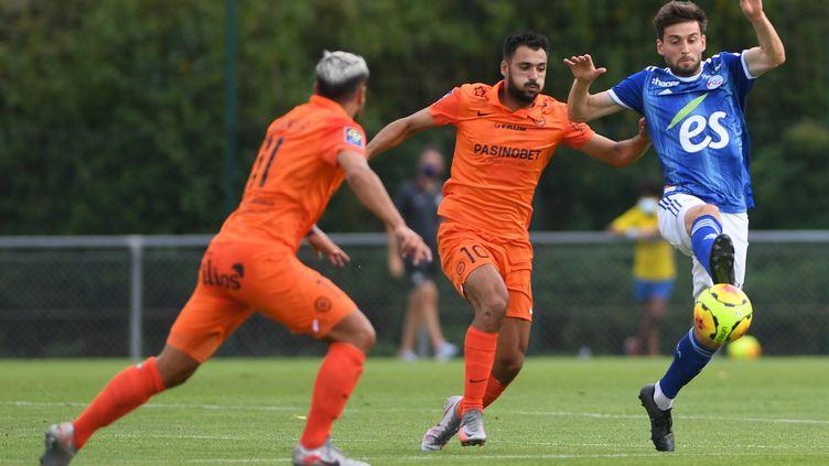 Le match amical entre Strasbourg et Montpellier à l'origine d'un cas de Covid-19 au MHSC (C?DRIC JOUBERT / MAXPPP)
