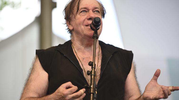 Christian Vander, lors du Paris Jazz Festival, en 2017. (FREDERIQUE GRANDO / MAXPPP)