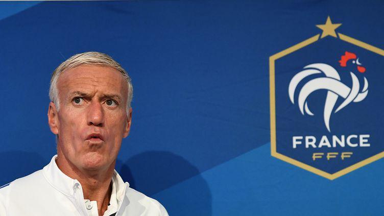 Didier Deschamps, entraîneur de l'équipe de France de football.  (FRANCK FIFE / AFP)