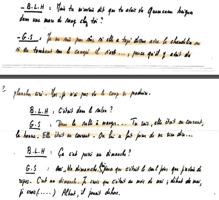 """Verbatim de l'enregistrement de """"Petit Guillaume"""", fils de Guillaume Seznec, retranscrit par Denis Langlois. (DENIS LANGLOIS / FRANCEINFO)"""