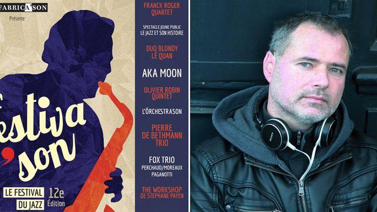 L'affiche du Festiva'son 2016 et l'un de ses cofondateurs, le pianiste Sébastien Paindestre  (Fabrica'son / Photo Elsa Martin)