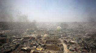 JUILLET. Les ruines de la vieille ville de Mossoul, libérée le 9 juillet 2017 du groupe Etat islamique. (AHMAD AL-RUBAYE / AFP)