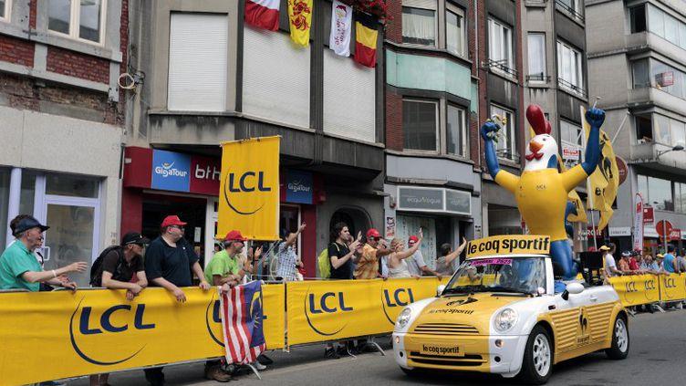 Une rue de Liège (Belgique), le matin du samedi 30 juin 2012, peu avant le départ du 99e Tour de France. (JOEL SAGET / AFP)