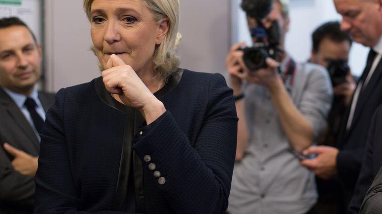 Marine Le Pen, le 23 avril 2017, à Paris. (IRINA KALASHNIKOVA / SPUTNIK)
