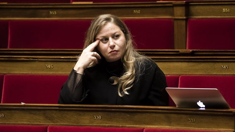Nadia Hai, ministre déléguée en charge de la ville, ici sur son fauteuil de députée des Yvelines le 17 décembre 2019. (VINCENT ISORE / MAXPPP)