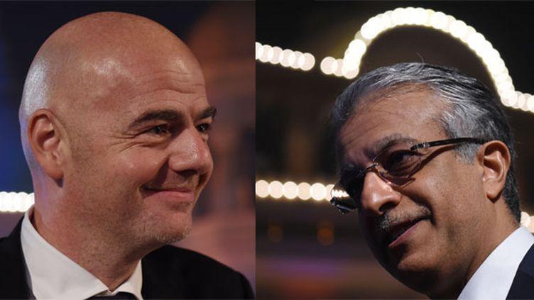 Gianni Infantino et le cheikh Salman, favoris à la succession de Sepp Blatter à la tête de la FIFA.