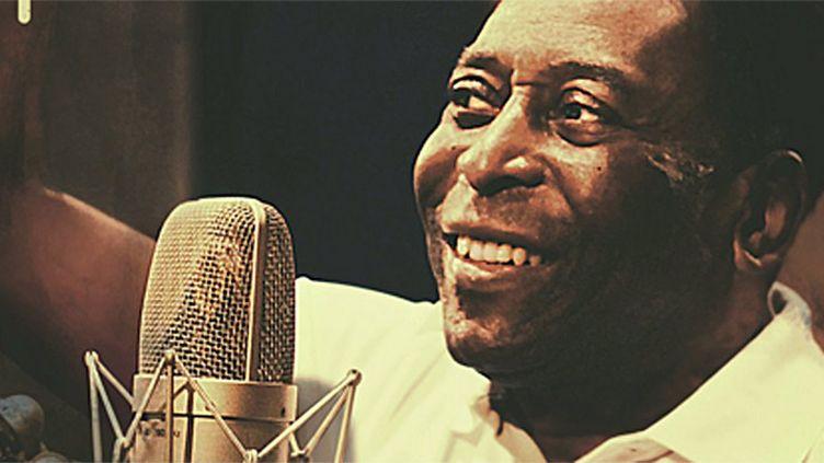 "Edson Arantes do Nascimento dit Pelé sur la pochette de sa chanson ""Esperança"" pour les J.O. de Rio.  (DR)"