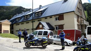 Le chalet Saint-Bernard, à Ascou (Ariège), où l'enfait se trouvait en colonie de vacances, le 10 juillet 2014. (RAYMOND ROIG / AFP)