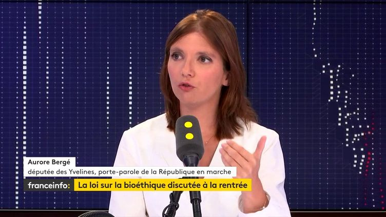 Aurore Bergé, sur franceinfo, le 21 août 2019. (FRANCEINFO / RADIOFRANCE)