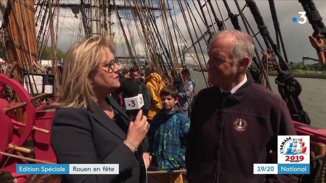 """Armada de Rouen : pour son capitaine, """"l'Hermione est une machine à remonter le temps"""""""