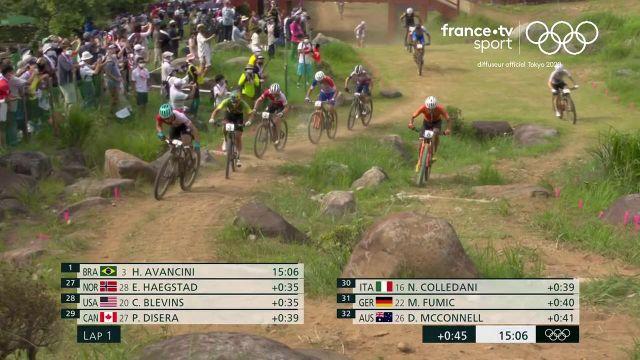 Mathieu van der Poel est parti à la faute dans ce début d'épreuve de VTT Cross-Country. Ses chances de titre olympique semblent s'envoler.
