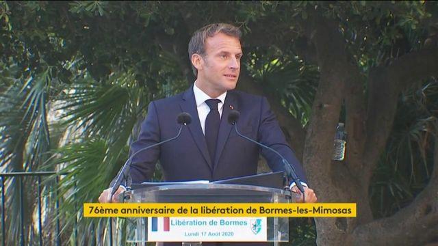 """Emmanuel Macron :"""" Ne cherchons pas à déboulonner des statues"""""""