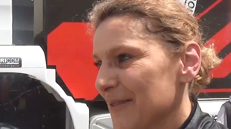 Florence Deroncesur le Rallye Dakar. (FRANCEINFO / RADIOFRANCE)