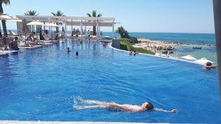 L'hôtel La Badira, à Hammamet, n'a pas été affecté par les attentats du jeudi 27 juin à Tunis. (BENJAMIN ILLY / RADIOFRANCE)