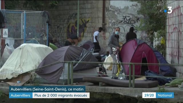 Seine-Saint-Denis : évacuation d'un camp de migrants
