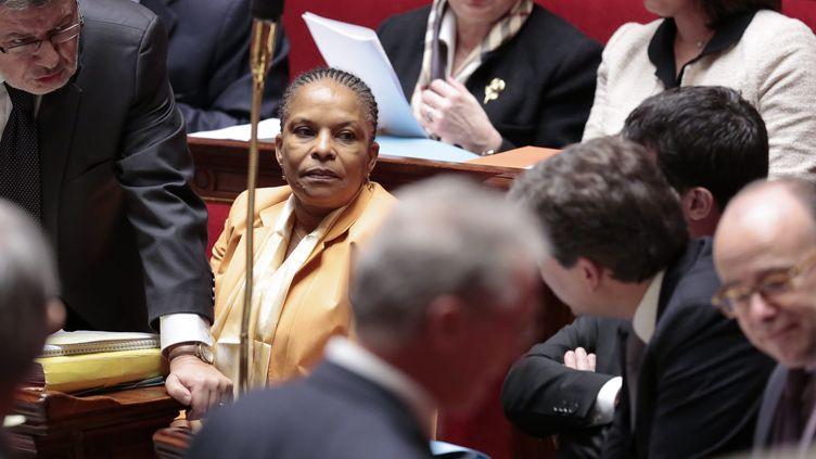 La ministre de la Justice, Christiane Taubira, le 30 janvier 2013 à l'Assemblée nationale, à Paris. (MAXPPP)