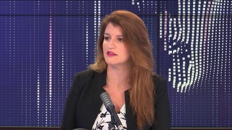 """Marlène Schiappa, ministre déléguée chargée de la Citoyenneté, était l'invitée du """"8h30 franceinfo"""", vendredi 11 septembre 2020. (FRANCEINFO / RADIOFRANCE)"""