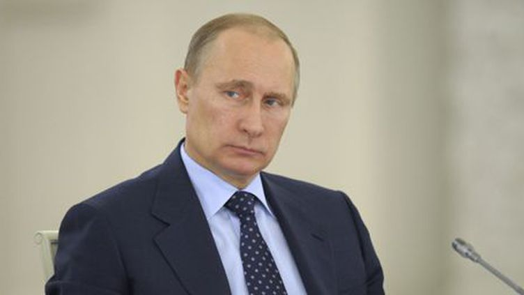 Le président russe, Valdimir Poutine, lors d'une réunion au Kremlin le 21 avril 2014. (Reuters - Alexei Druzhinin - RIA Novosti - Kremlin)