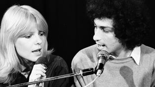 France Gall et Michel Berger en duo en 1977  (Claude James / INA / AFP)