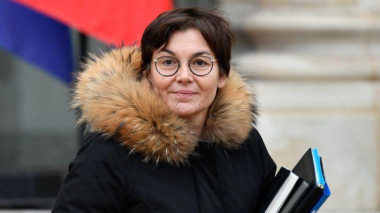 La ministre des Outre-Mer, Annick Girardin, le 23 janvier 2019 à l'Elysée. (MAXPPP)
