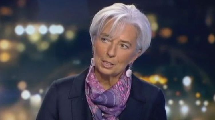Christine Lagarde, la directrice du FMI, le 24 janvier 2012 à Paris. (FTVi)