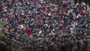 Guatemala : des migrants du Honduras, tentant de rejoindre les États-Unis, brutalement stoppés par les forces de l'ordre  (France 2)