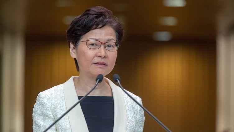 La cheffe de l'exécutif hongkongais Carrie Lam à Hong Kong, le 3 septembre 2019. (EYEPRESS NEWS / AFP)