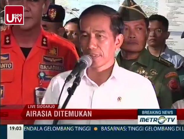 (Conférence de presse du président indonésien, Joko Widodo © Capture d'écran MetroTV)