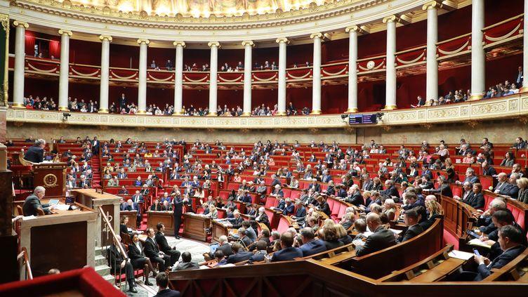 Le Premier ministre, Edouard Philippe, s'exprime pendant une séance de questions au gouvernement à l'Assemblée nationale, le 14 janvier 2020. (LUDOVIC MARIN / AFP)