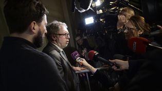 Philippe Duperron,président de l'association 13onze15 Fraternité et vérité, le 5 février 2018, au palais de justice de Paris. (YORICK JANSENS / BELGA)