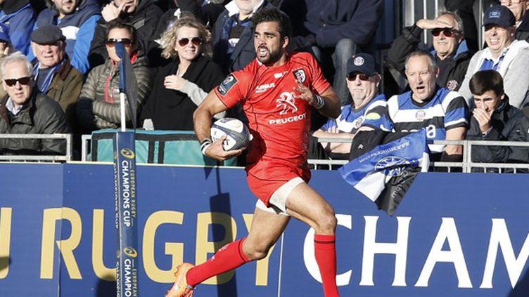 Yoann Huget (Stade toulousain) (ADRIAN DENNIS / AFP)
