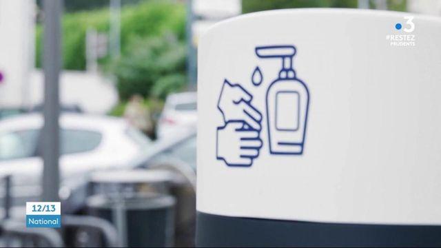 Déconfinement : le boom des distributeurs de gel hydroalcoolique
