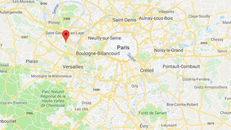 Le corps de la victime, âgée de 38 ans, a été retrouvé à Marly-Le-Roi (Yvelines), le 1er octobre 2019. (GOOGLE MAPS)