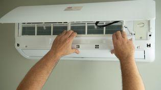 Les gaz HFC sont notamment présents dans les climatiseurs. (BOILEAU FRANCK / MAXPPP)