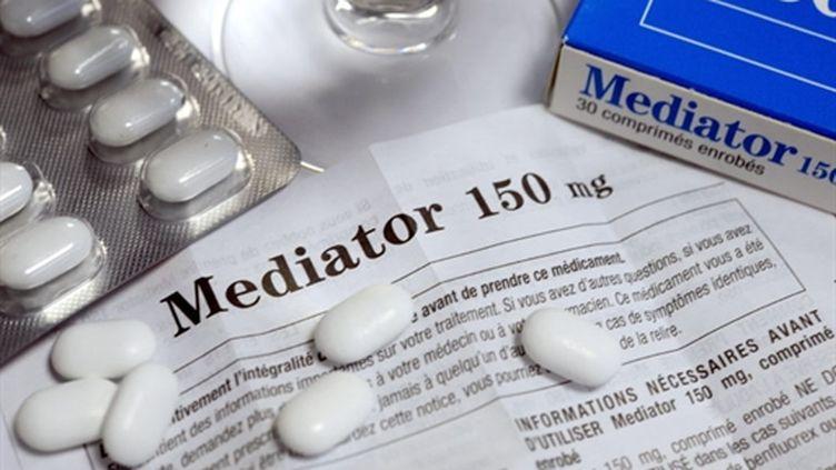 Le médicament Mediator, destiné aux diabétiques en surpoids et utilisé comme coupe-faim (AFP PHOTO FRED TANNEAU)