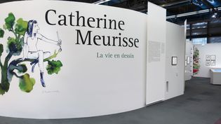"""Entrée de l'exposition""""Catherine Meurisse- La vie en dessin"""", 29 septembre 2020 (Laurence Houot / FRANCEINFO Culture)"""
