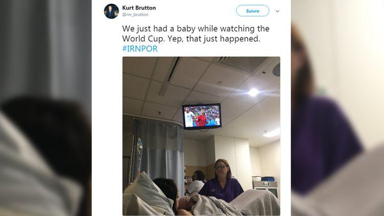 Capture d'écran d'un tweet publié par Kurt Brutton dans la nuit du 25 au 26 juin 2018. (KURT BRUTTON)