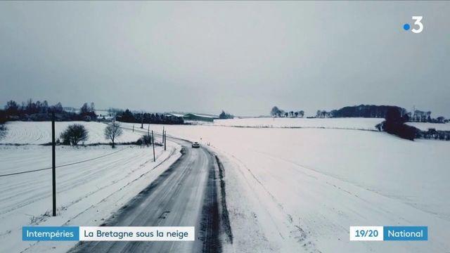 Météo : dix centimètres de neige tombés en Bretagne, un phénomène rare