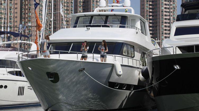 Exposition de yachts à Hong Kong (Chine) le 6 mai 2011.  (KIN CHEUNG / AP / SIPA)