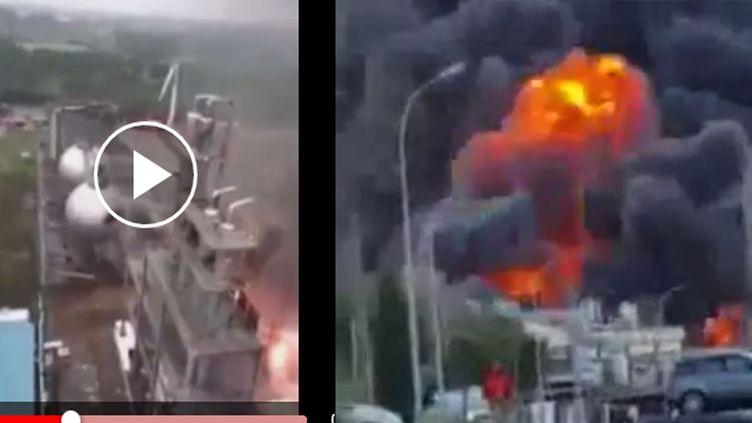 Des vidéos censées montrer l'explosion de Flamanville proviennent d'Espagne et de Chine (Capture d'écran Youtube)
