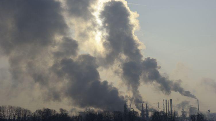 Des usines près de Chalampe (Haut-Rhin), le 9 février 2012. ( PHILIPPE WOJAZER / REUTERS)