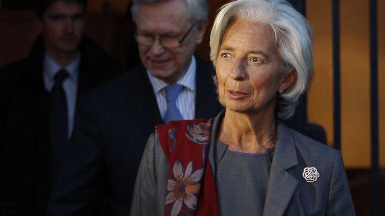 Christine Lagarde à la fin de son auditionpar les magistrats de la Cour de justice de la République,à Paris le 24 mai 2013. (STEPHANE MAHE / REUTERS)