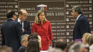 Yaël Braun-Pivet, présidente de la commissiond'enquête sur l'affaire Benalla (au centre), le 23 juillet 2018 lors de l'audition de Gérard Collomb. (MAXPPP)