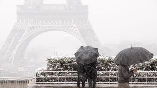 Place du Trocadéro, à Paris, le 6 février 2018. (DAVID SEYER / CROWDSPARK / AFP)