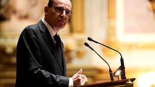 Le Premier ministre, Jean Castex, lors de sa déclaration de politique générale au Sénat, le 16 juillet 2020. (BERTRAND GUAY / AFP)