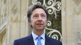 Stéphane Bern, le 16 septembre 2017, lors de la visite du château de Monte-Cristoà Port-Marly (Yvelines). (LUDOVIC MARIN / AFP)
