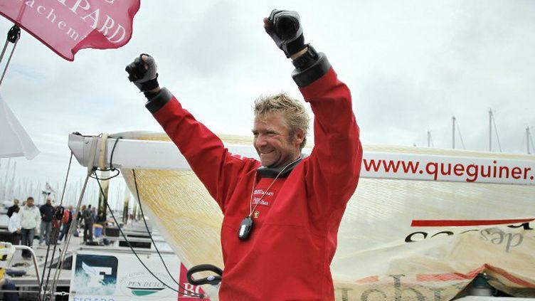 Yann Eliès, vainqueur de la Solitaire du Figaro en 2013