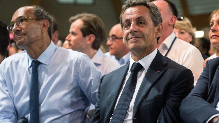 Nicolas Sarkozy, lors du campus des Républicains, au Touquet, le 27 août 2016. (DENIS CHARLET / AFP)